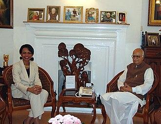 L. K. Advani - Lal Krishna Advani with Condoleezza Rice