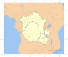 zaire river in africa map