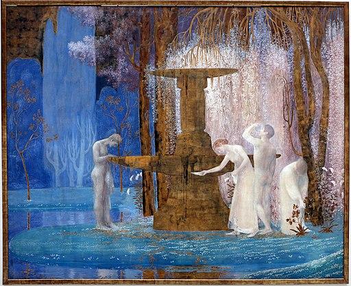 Constant montald, la fontana dell'ispirazione, 1907