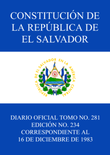 Constitution of El Salvador El Salvadors Current Constitution (1983)