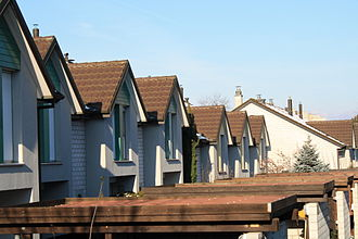 Renens - Row of houses in Renens