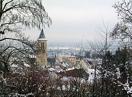 A view of Cormeilles, seen from the park