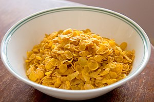 Corn flakes - Image: Cornflakes in bowl