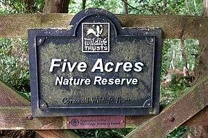 Cornwall Wildlife Trust - Five Acres Nature Reserve