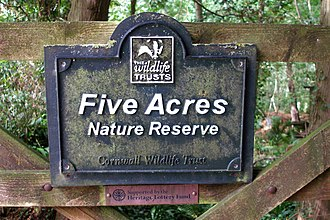 Cornwall Wildlife Trust - Five Acres Nature Reserve