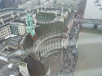 County Hall, London - County Hall, London, seen from the London Eye