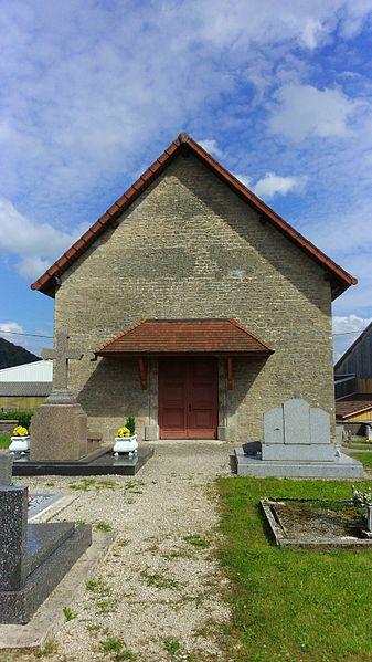 Chapelle de cimetière de Cour Saint Maurice, Doubs, France