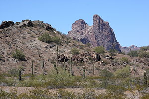 La Paz County, Arizona - Courthouse Rock in the Eagletail Mountains, northeastern La Paz County