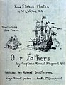 Cover draft for 'Four Etched Plates by W.L. Wyllie R.A. Illustrating the Poem 'Our Fathers' by Captain Ronald A Hopwood RN - ' RMG PW0661.jpg