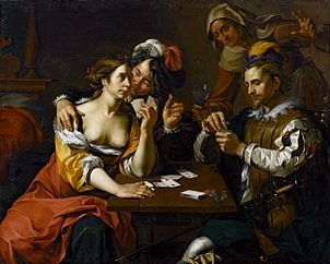 Card players.