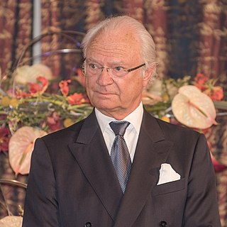 Carl XVI Gustaf of Sweden king of Sweden