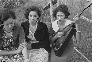 French Americans - Creole girls, Plaquemines Parish, Louisiana, 1935