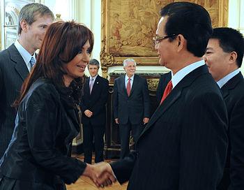 Cristina Fernandez y Nguyen Tan Dung