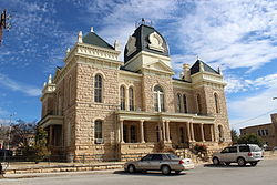 The Crockett County Courthouse in Ozona.