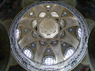 History of early modern period domes - Church of San Lorenzo in Turin.