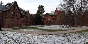 Cushing House - Cushing as seen from its courtyard