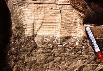 Cyclic sediments - Image: Cycle émersif Maroc