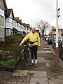 Cyclist, Cloister Road, North Acton - geograph.org.uk - 315941.jpg