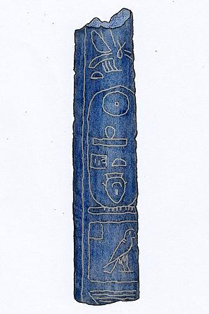 Sehetepibre - Lapis lazuli cylinder seal with Sehetepibre's cartouche