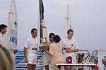Dériveurs 18 pieds australiens au Salon Nautique International à Flot de La Rochelle 1987 (23).jpg