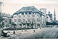 Dělnický dům v Curychu, odkud konal se pohřeb Bebelův (1913).jpg