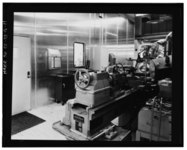 DETAILED VIEW OF LATHE EQUIPMENT. LATHES WERE USED TO FORM THE FINAL SHAPE OF THE FIRST TRIGGER DESIGN. (4-4-66) - Rocky Flats Plant, General Manufacturing, Support, Records HAER COLO,30-GOLD.V,1Q-11.tif