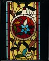 DETAIL OF STAINED GLASS - Winchester House, 525 South Winchester Boulevard, San Jose, Santa Clara County, CA HABS CAL,43-SANJOS,9-13 (CT).tif