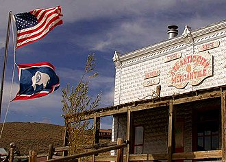 National Register of Historic Places listings in Fremont County, Wyoming - Image: DSCN6089 atlanticcitymercanti le e 600