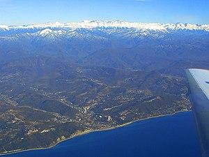 Dagomys - Dagomys and Great Caucasian Ridge - view from the plane