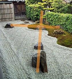 asociacin de una cruz en el jardn zuihoin del templo daitokuji en kioto obra de del arquitecto sighemori mirei