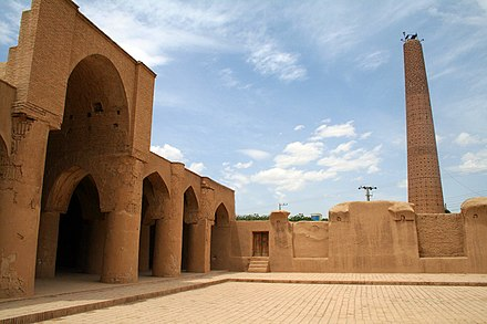 Tarikhaneh Temple, a pre-Islamic monument built in Sassanid Persia which was later turned into a mosque, showing elements of Iranian architecture before the spread of Islam Damghan7.jpg