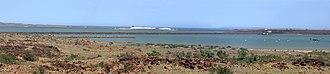 Dampier Salt - Image: Dampier panorama Nov 06 SMC