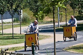 Cycling in Copenhagen - The Danish postal service delivers virtually all mail in Copenhagen by bicycle