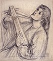 Dante Gabriel Rossetti - A Christmas Carol (pencil).jpg