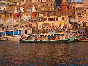 Ghat - The famous Dashashwamedh Ghat on the Ganges river, Varanasi