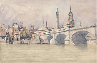 The Opening of the New London Bridge