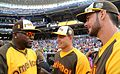 David Ortiz chats with Anthony Rizzo and Kris Bryant during the T-Mobile -HRDerby. (28291312930).jpg
