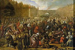 Otto van Veen:Distribution of Herring and White Bread at the Relief of Leiden, 3 October 1574