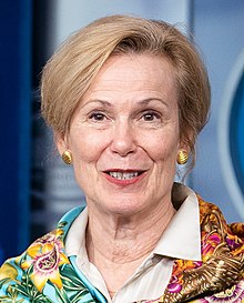 Deborah Birx in April 2020 face detail, from- White House Coronavirus Update Briefing (49742678236) (cropped).jpg