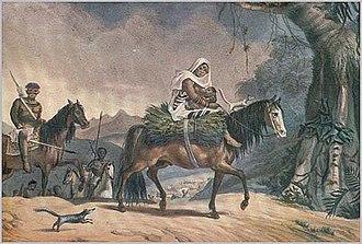 Guaycuru peoples - Guaycuru nomads by Debret