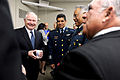Defense.gov News Photo 110429-D-XH843-003 - Secretary of Defense Robert M. Gates speaks with Secretary of National Defense of Mexico Gen. Guillermo Galvan Galvan 2nd from right and Secretary.jpg