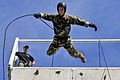Defense.gov News Photo 110720-N-WW409-534 - U.S. Navy Lt. Ryan Ramsden rappels off a tower while training with members of the Australian Northern Territory Tactical Response Group during.jpg