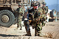 Defense.gov News Photo 111226-A-VB845-265 - A U.S. Army soldier provides security outside Mullayan in Afghanistan s Kandahar province on Dec. 26 2011. The soldier is assigned to the 2nd.jpg