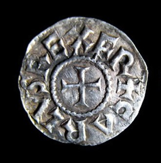 Aachen penny of Charlemagne - Obverse of the Aachen silver penny