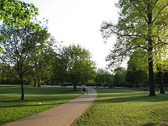 King's Garden (Odense) - King's Gardens towards the south and center