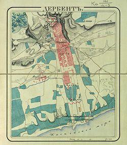 Карта Дербента, где находится Дербент на карте мира