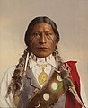 Detail -Native American with a Medal of President Garfield- MET DP275757 (cropped).jpg