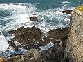 Detail of cliffs at Towan Head - geograph.org.uk - 966788.jpg