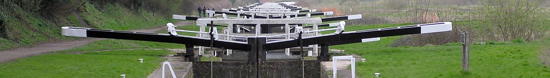 The Caen Hill locks, on the Kennet and Avon Canal