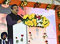 Dharmendra Pradhan addressing at the inauguration of the Indian Oil Corporation's state of the art oil terminal at Jharsuguda & Augmented terminal at Jatni and Paradip-Raipur- Ranchi pipeline.jpg